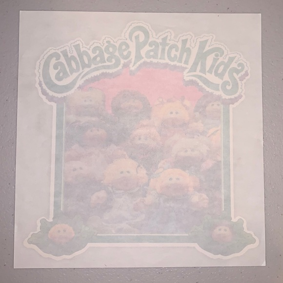 Vintage 1980's Cabbage Patch Kids Iron-On